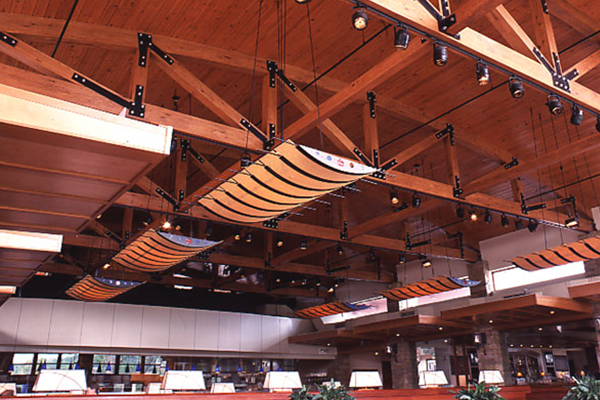 open trusses glulam beams