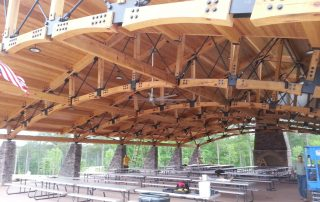 outdoor pavilion specialty timber glulams